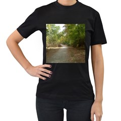 Path 1 Women s T-Shirt (Black) (Two Sided)