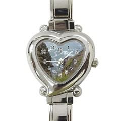 Pacific Ocean 2 Heart Italian Charm Watch