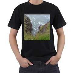 Pacific Ocean 2 Men s T-Shirt (Black) (Two Sided)