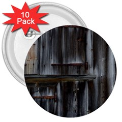 Alpine Hut Almhof Old Wood Grain 3  Buttons (10 Pack)