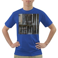 Alpine Hut Almhof Old Wood Grain Dark T Shirt