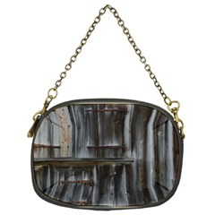 Alpine Hut Almhof Old Wood Grain Chain Purses (two Sides)