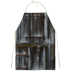 Alpine Hut Almhof Old Wood Grain Full Print Aprons