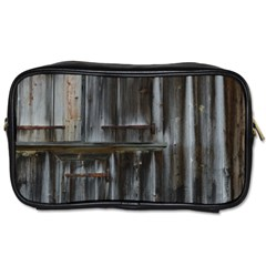 Alpine Hut Almhof Old Wood Grain Toiletries Bags 2 Side