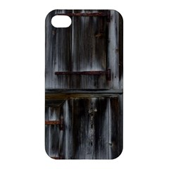 Alpine Hut Almhof Old Wood Grain Apple Iphone 4/4s Hardshell Case
