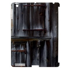 Alpine Hut Almhof Old Wood Grain Apple iPad 3/4 Hardshell Case (Compatible with Smart Cover)