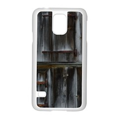 Alpine Hut Almhof Old Wood Grain Samsung Galaxy S5 Case (White)