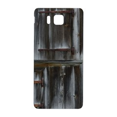 Alpine Hut Almhof Old Wood Grain Samsung Galaxy Alpha Hardshell Back Case