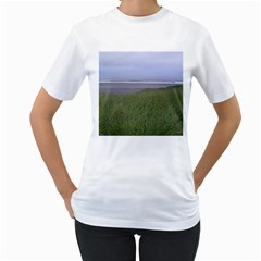 Pacific Ocean  Women s T-Shirt (White) (Two Sided)