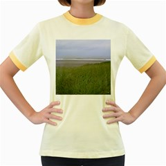 Pacific Ocean  Women s Fitted Ringer T-Shirts