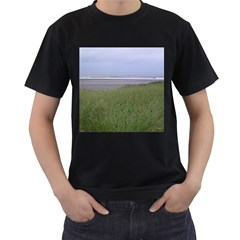 Pacific Ocean  Men s T-Shirt (Black) (Two Sided)
