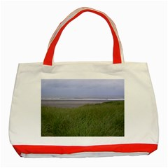 Pacific Ocean  Classic Tote Bag (Red)