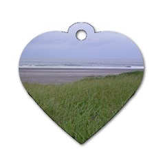 Pacific Ocean  Dog Tag Heart (One Side)