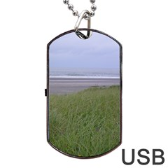 Pacific Ocean  Dog Tag USB Flash (One Side)