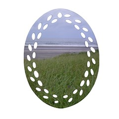 Pacific Ocean  Oval Filigree Ornament (Two Sides)