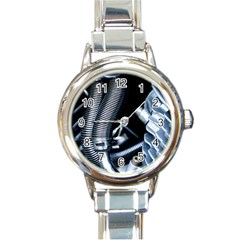Motorcycle Details Round Italian Charm Watch