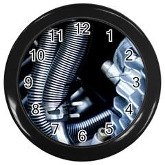 Motorcycle Details Wall Clocks (Black)