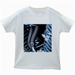 Motorcycle Details Kids White T Shirts