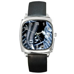 Motorcycle Details Square Metal Watch