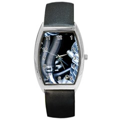 Motorcycle Details Barrel Style Metal Watch