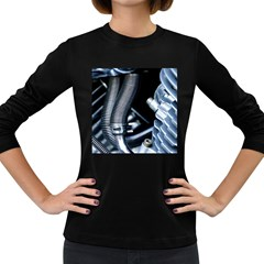 Motorcycle Details Women s Long Sleeve Dark T Shirts