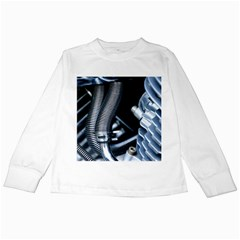 Motorcycle Details Kids Long Sleeve T-Shirts