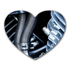 Motorcycle Details Heart Mousepads