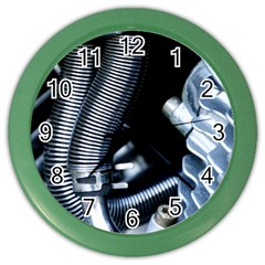 Motorcycle Details Color Wall Clocks