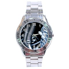 Motorcycle Details Stainless Steel Analogue Watch