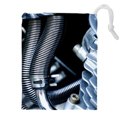 Motorcycle Details Drawstring Pouches (XXL)