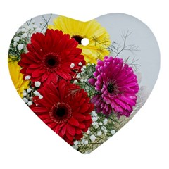 Flowers Gerbera Floral Spring Ornament (heart)