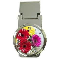 Flowers Gerbera Floral Spring Money Clip Watches