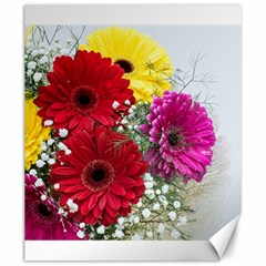 Flowers Gerbera Floral Spring Canvas 20  X 24
