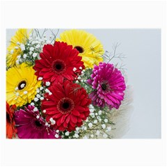 Flowers Gerbera Floral Spring Large Glasses Cloth (2 Side)