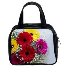 Flowers Gerbera Floral Spring Classic Handbags (2 Sides)