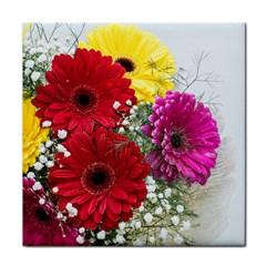 Flowers Gerbera Floral Spring Face Towel