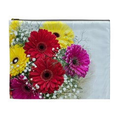 Flowers Gerbera Floral Spring Cosmetic Bag (XL)