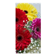 Flowers Gerbera Floral Spring Shower Curtain 36  x 72  (Stall)