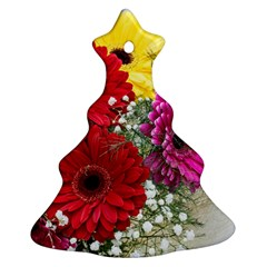 Flowers Gerbera Floral Spring Christmas Tree Ornament (Two Sides)