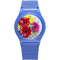 Flowers Gerbera Floral Spring Round Plastic Sport Watch (s)