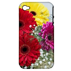 Flowers Gerbera Floral Spring Apple iPhone 4/4S Hardshell Case (PC+Silicone)