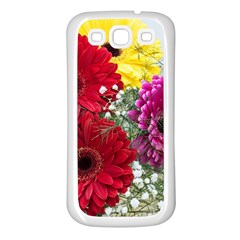 Flowers Gerbera Floral Spring Samsung Galaxy S3 Back Case (White)