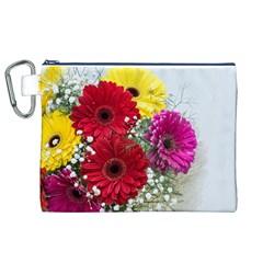 Flowers Gerbera Floral Spring Canvas Cosmetic Bag (xl)