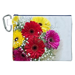 Flowers Gerbera Floral Spring Canvas Cosmetic Bag (xxl)