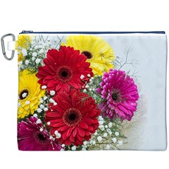 Flowers Gerbera Floral Spring Canvas Cosmetic Bag (xxxl)