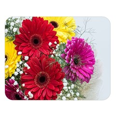 Flowers Gerbera Floral Spring Double Sided Flano Blanket (Large)
