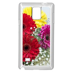 Flowers Gerbera Floral Spring Samsung Galaxy Note 4 Case (White)