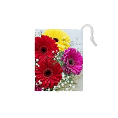 Flowers Gerbera Floral Spring Drawstring Pouches (xs)