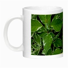 Texture Leaves Light Sun Green Night Luminous Mugs