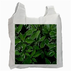 Texture Leaves Light Sun Green Recycle Bag (two Side)